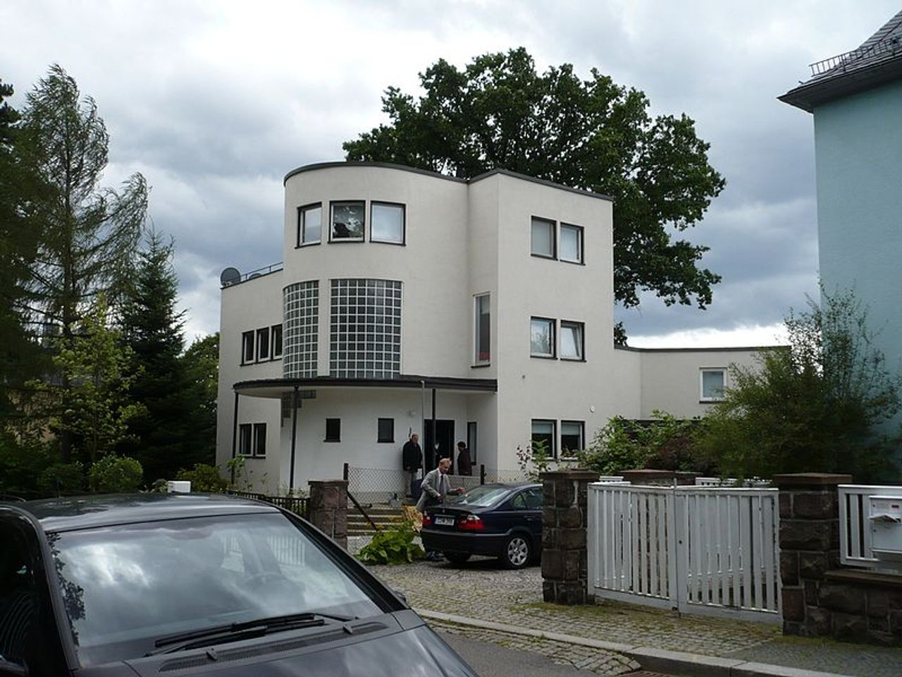 Bauhaus-style building in Chemnitz, Germany
