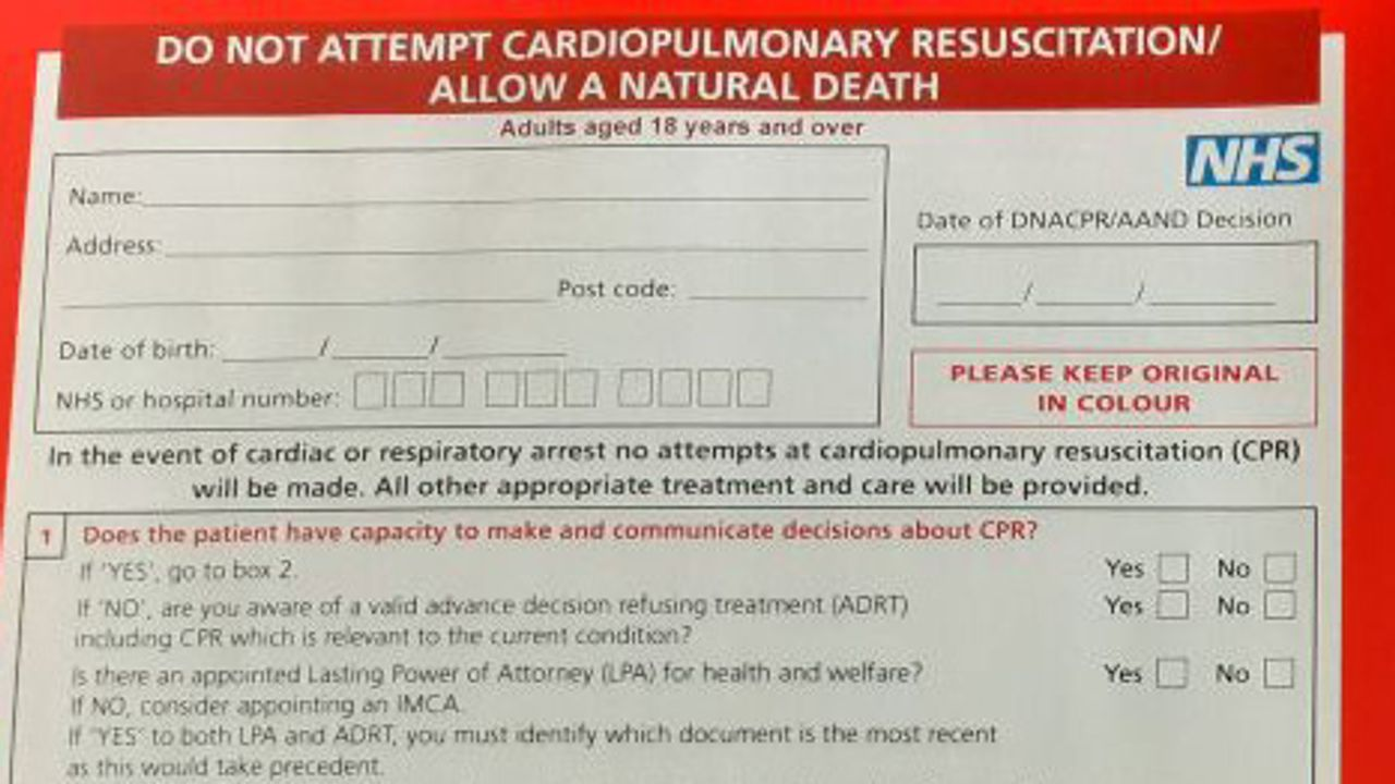 "Hundreds of UK elderly and disabled people subjected to blanket ""do not attempt resuscitation"" without consultation"