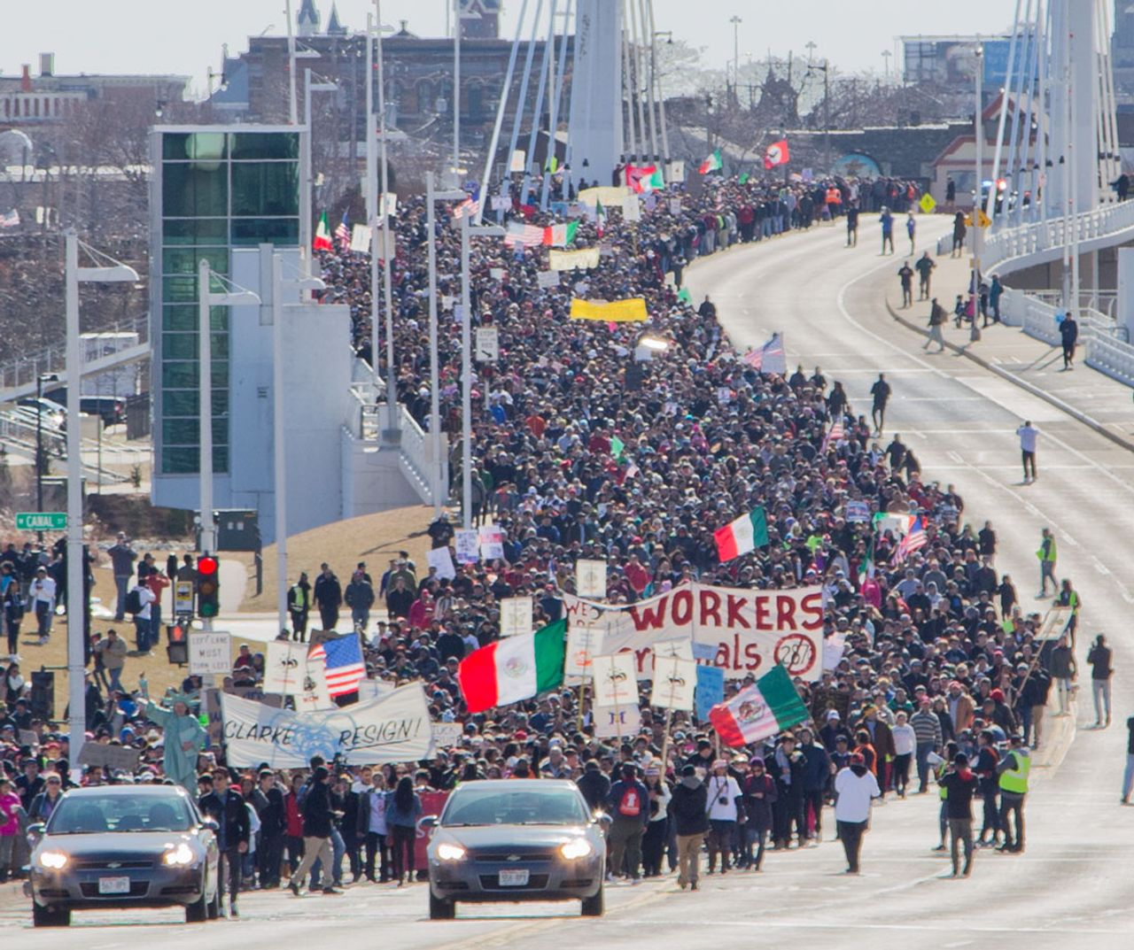 Thousands protest Wisconsin sheriff's immigration crackdown