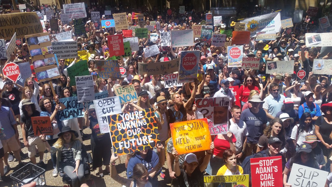 Part of the Sydney, Australia pro-climate rally