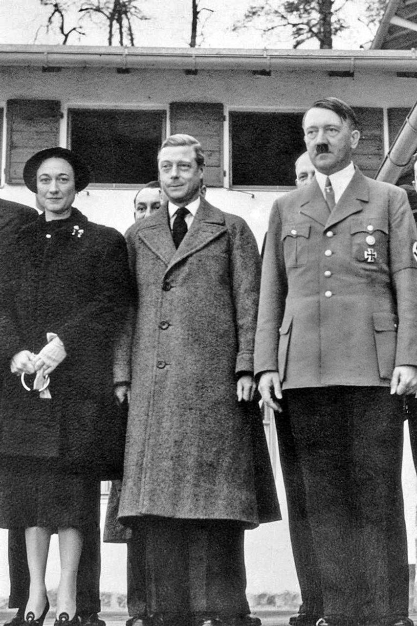 Edward VIII after his abdication visiting Hitler in 1937