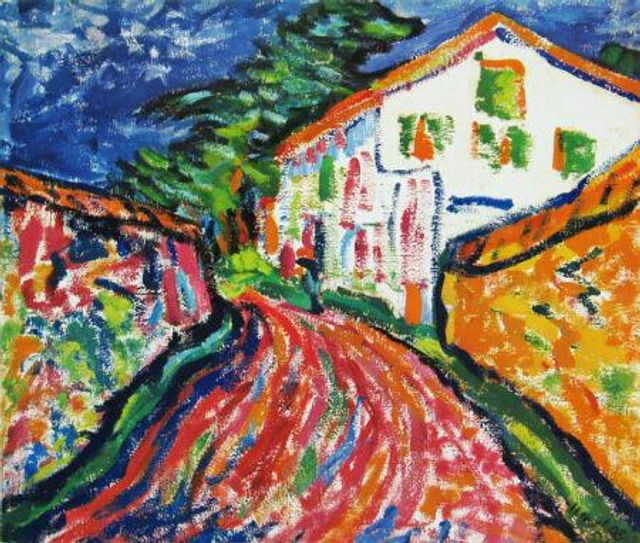 Weisses Haus in Dangast, oil painting by Erich Heckel, 1908 (Milmo-Penny Fine Art Ltd., Dublin, Ireland)