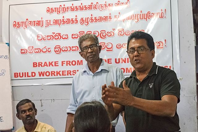 Pani Wijesiriwardena Addressing The Meeting