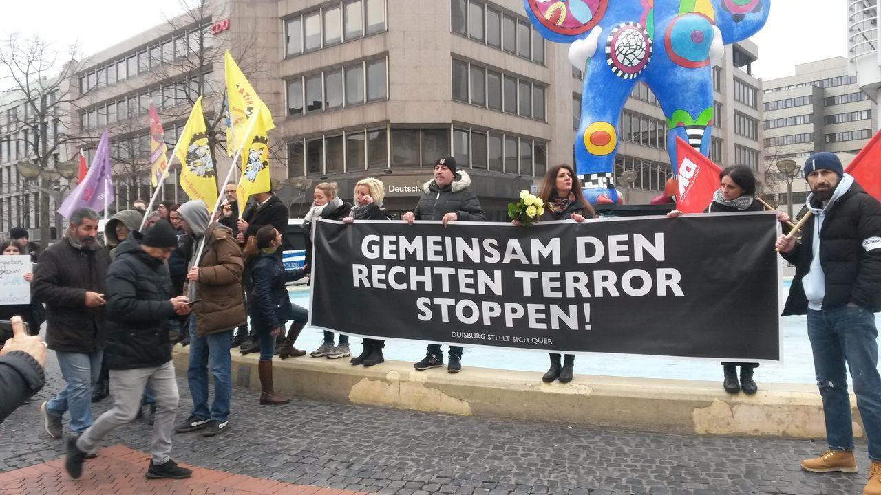 Demonstrators in Duisburg
