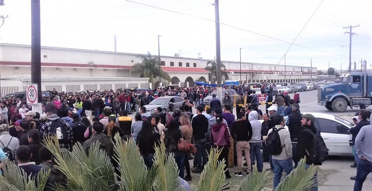 Strike begins 'officially' at Parker Industrial (Credit Abigail Juarez)
