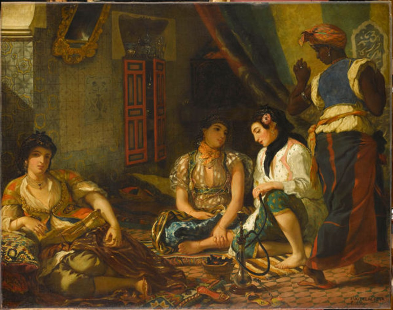 Women of Algiers in their Apartment, 1834