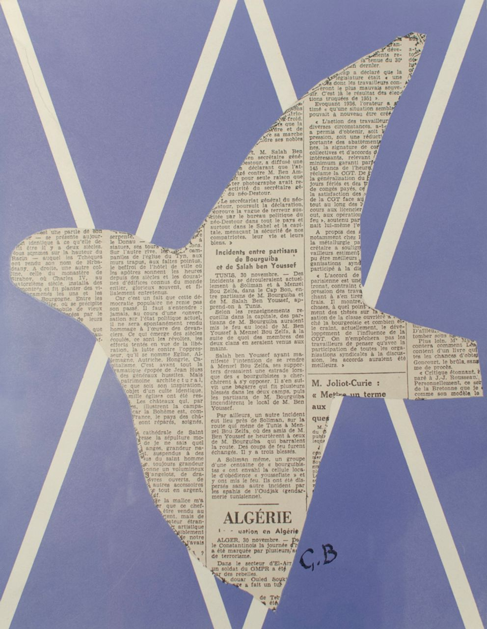 Newspaper bird for cover of XXe Siècle, Georges Braque, lithograph, 1955