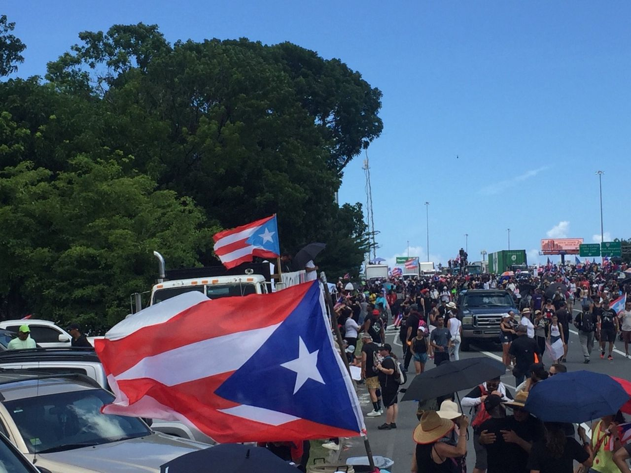Protesters shut down a major highway