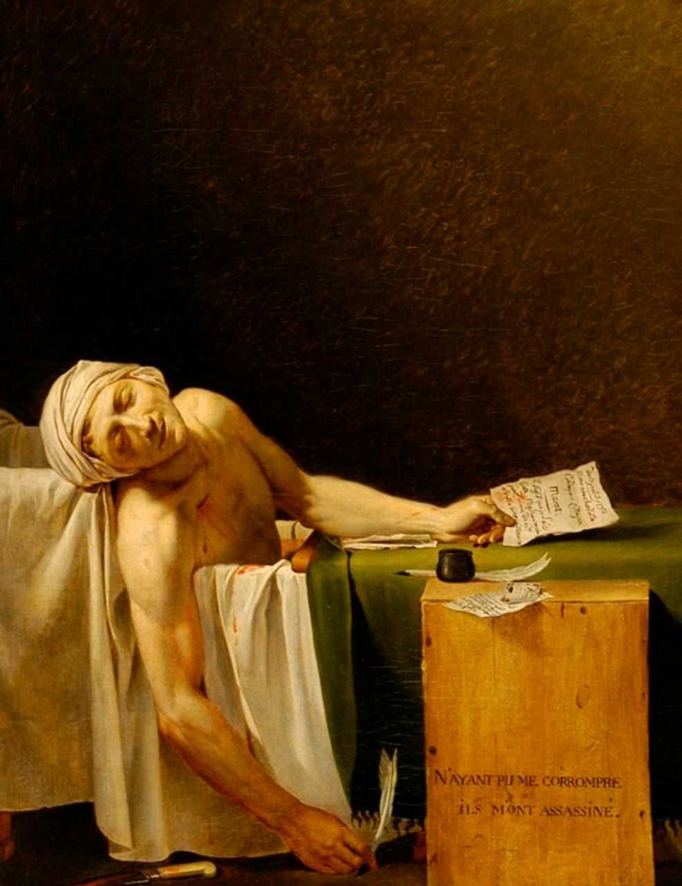 Jacques-Louis David, The Death of Marat 1793 © Musée des Beaux-Arts. Photo: C.Devleeschauwer