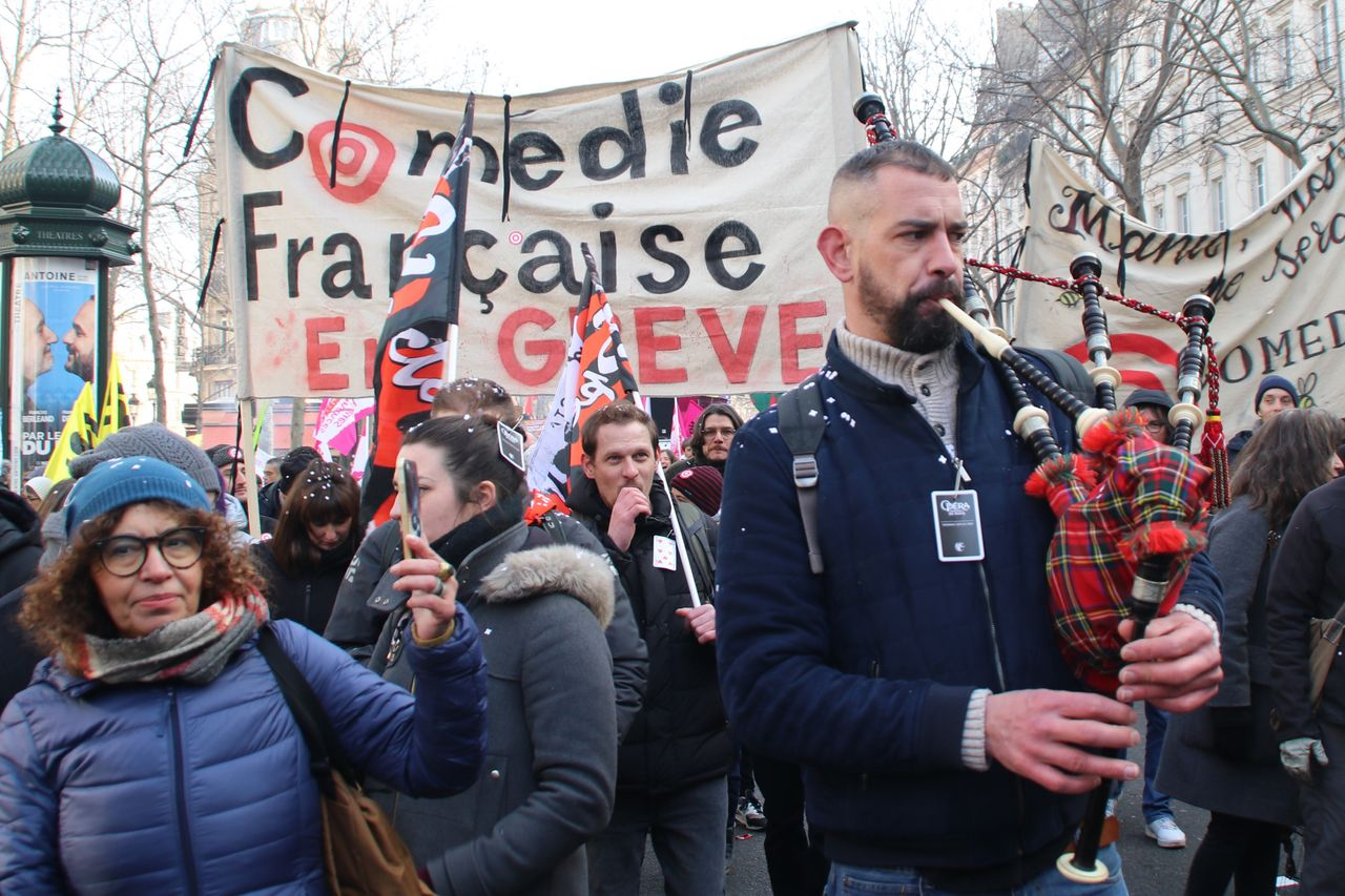 Comédie Française theater—On Strike