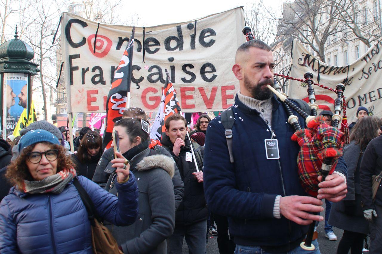 Comédie Française theater—On Strike