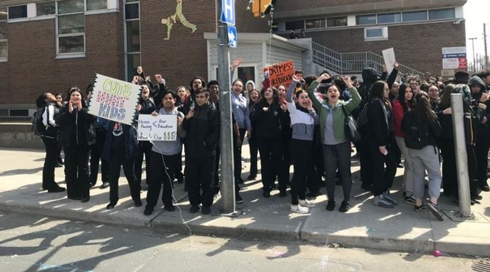 Ontarion student protest