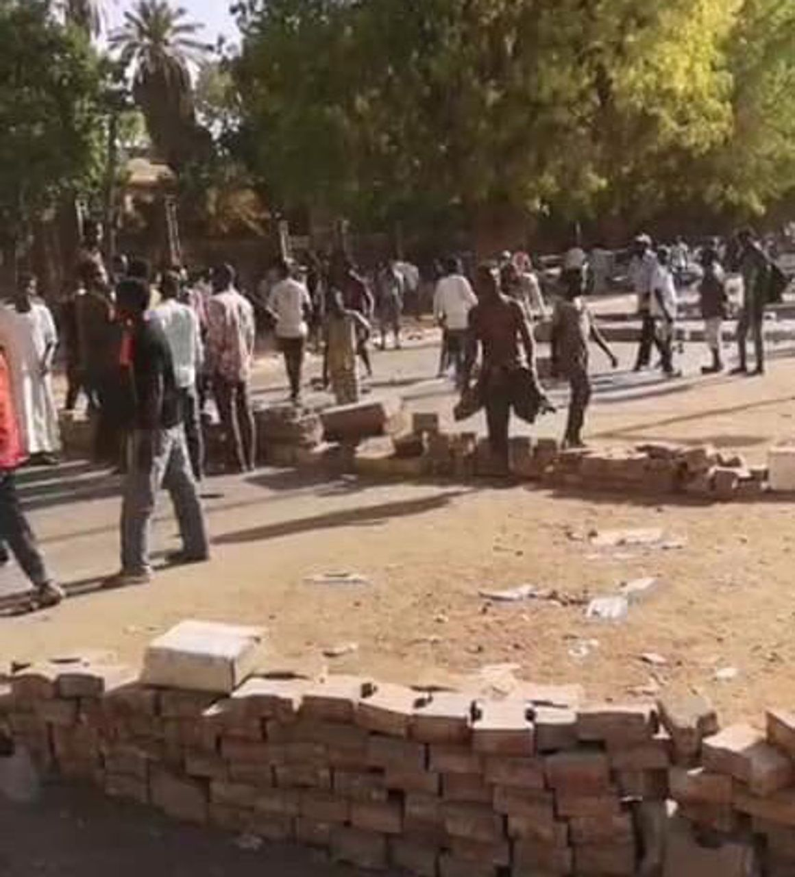 Protesters erect barricades in streets of Khartoum