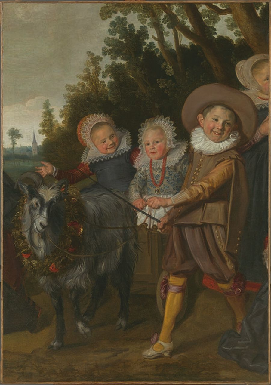 Frans Hals (Dutch, 1582/83–1666), Children of the Van Campen Family with a Goat-Cart (fragment), ca. 1623–25, oil on canvas. 152 x 107.5 cm. Royal Museums of Fine Arts of Belgium, Brussels, inv. 4732. ©Roya