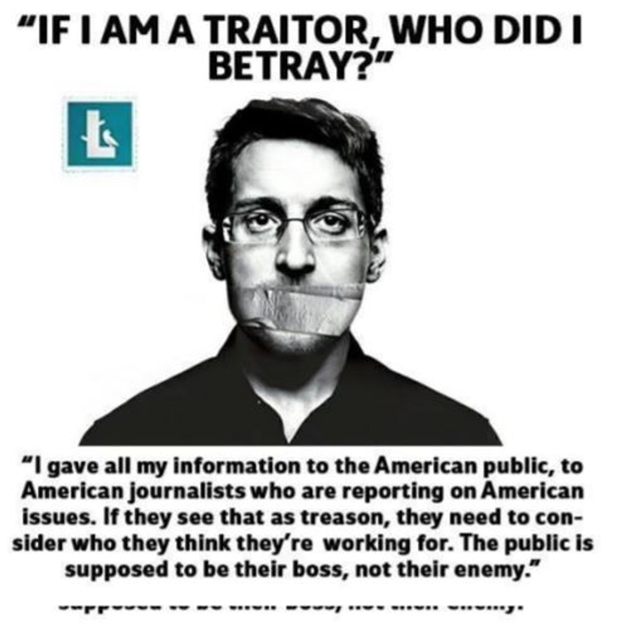 Edward Snowden, another example of what Facebook and New Knowledge call 'Russian Propaganda'