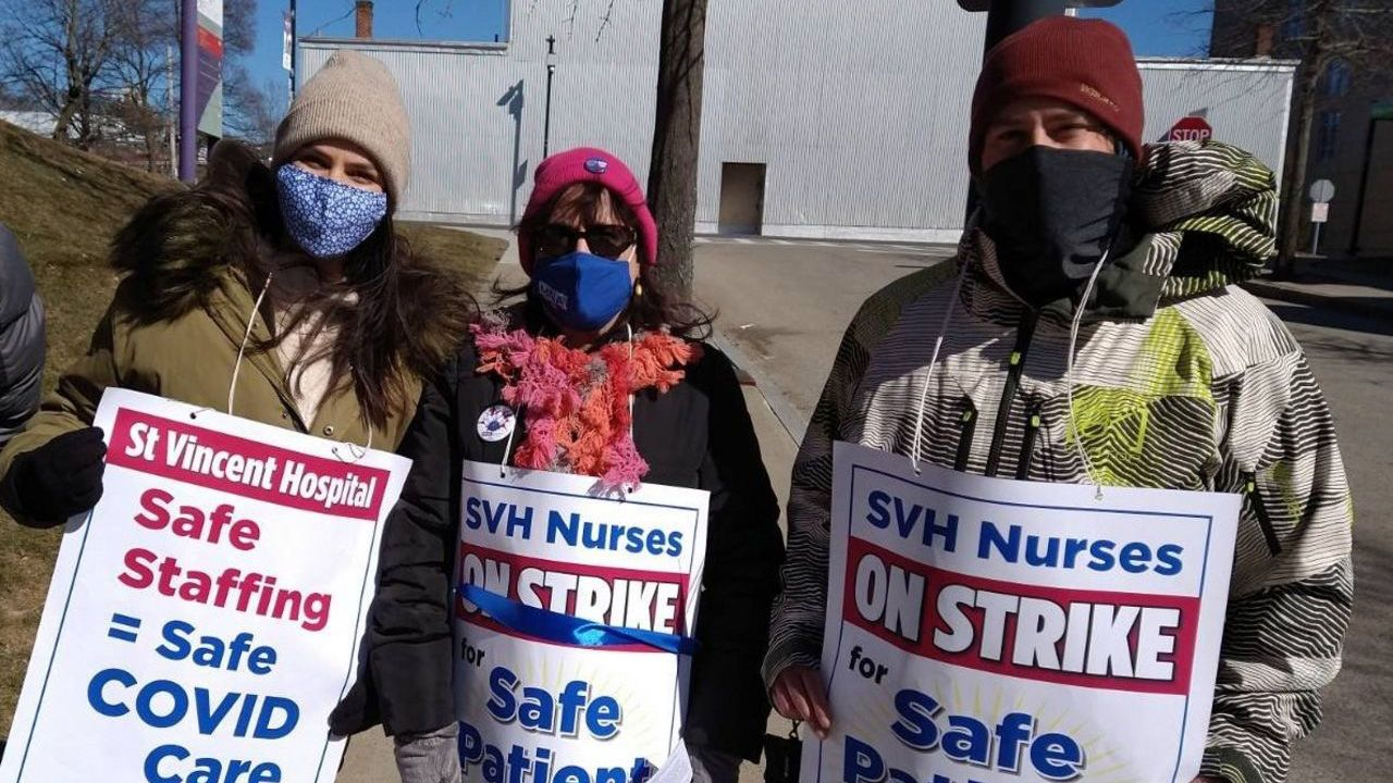 St. Vincent nurses starved of strike pay by Massachusetts Nurses Association