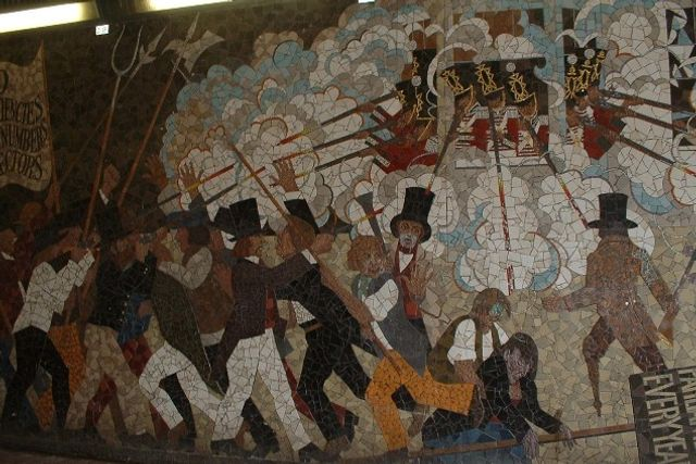 How the british workers movement helped end slavery in for Chartist mural newport