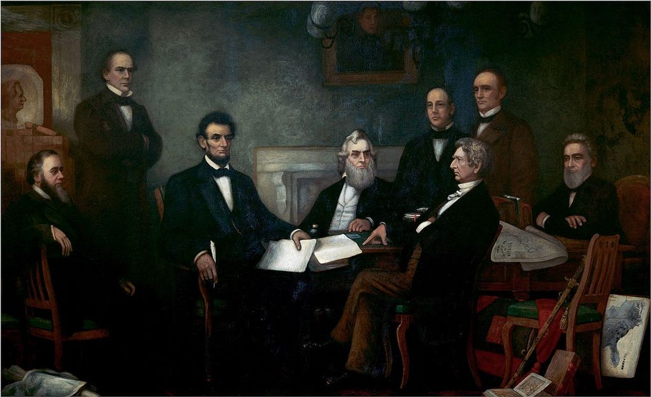 First Reading of the Emancipation Proclamation of President Lincoln, by Francis Bicknell Carpenter
