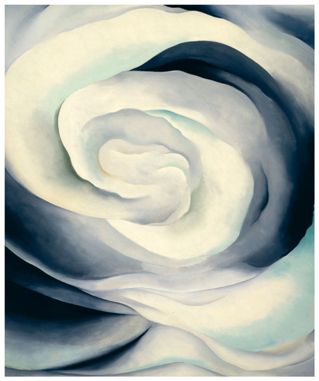 Abstraction White Rose, 1927 oil paint on canvas image: 914 x 762 mm Georgia O'Keeffe Museum, Gift of The Burnett Foundation and The Georgia O'Keeffe Foundation