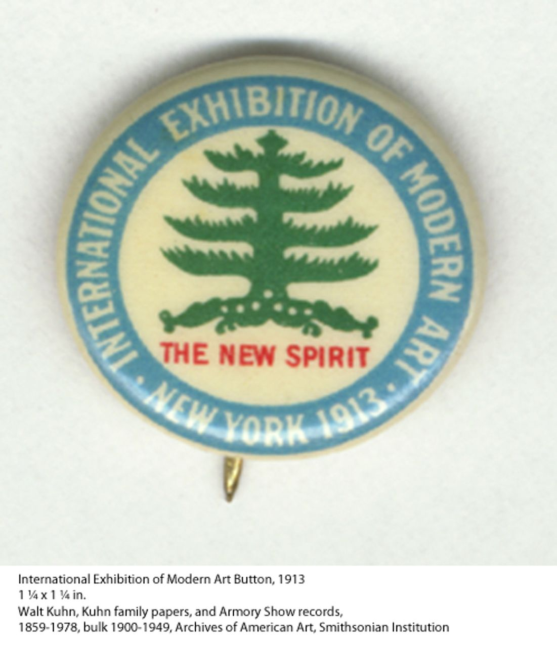 International Exhibition of Modern Art Button