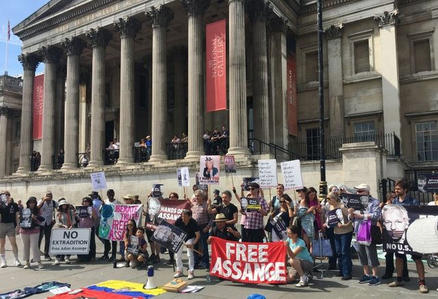 For a worldwide campaign to prevent Julian Assange's