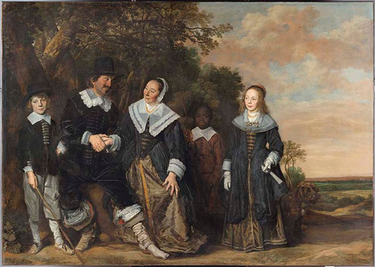 Frans Hals (Dutch, 1582/83–1666), Family Group in a Landscape, ca. 1645–48, oil on canvas. 202 x 285 cm. Museo Thyssen-Bornemisza, Madrid, inv. 1934.8. ©Museo Thyssen- Bornemisza, Madrid