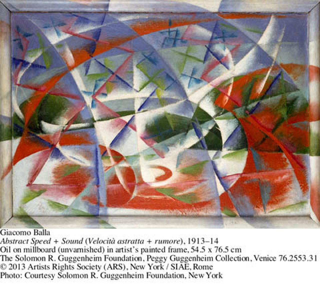 Giacomo Balla, Abstract speed + sound