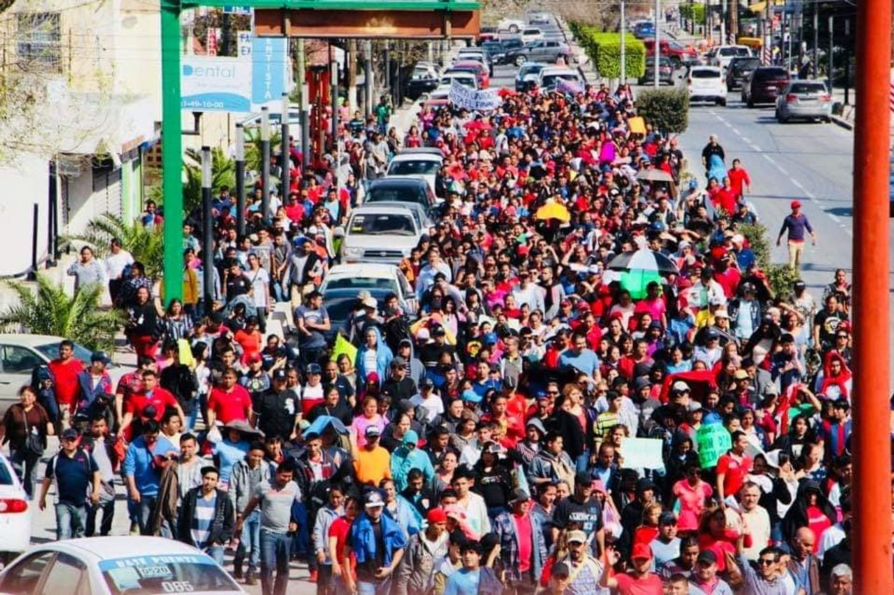 A Day Without Workers March in Matamoros on Monday