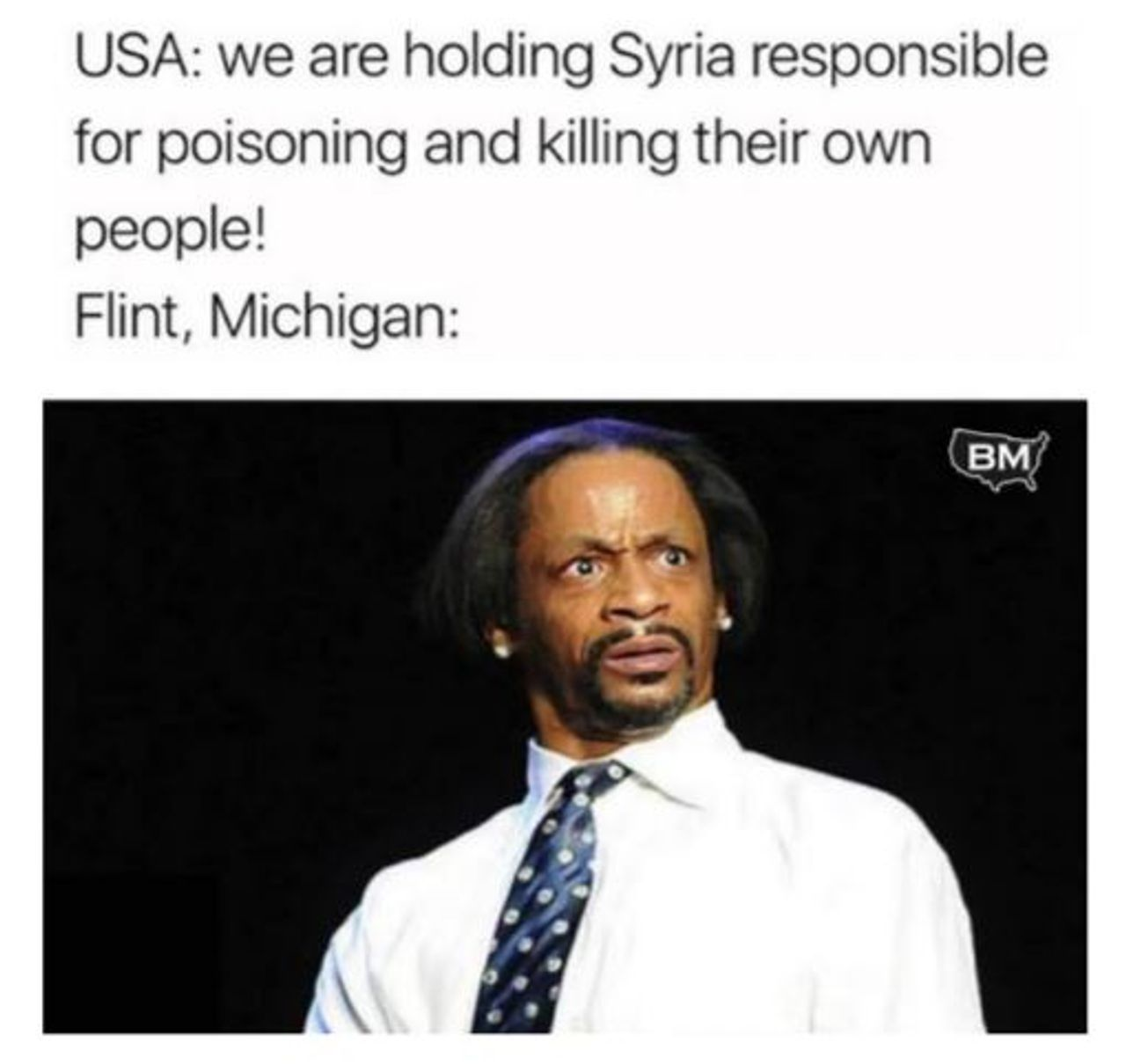 Flint, Michigan poisoned water. Another example of what Facebook and New Knowledge call 'Russian Propaganda'