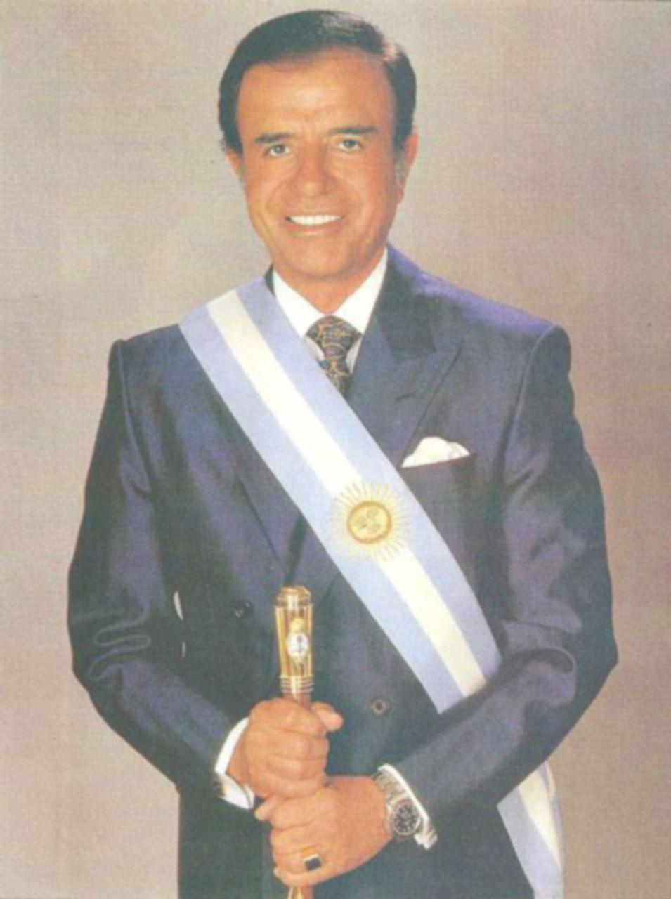 Argentine president Carlos Menem (1989-99)