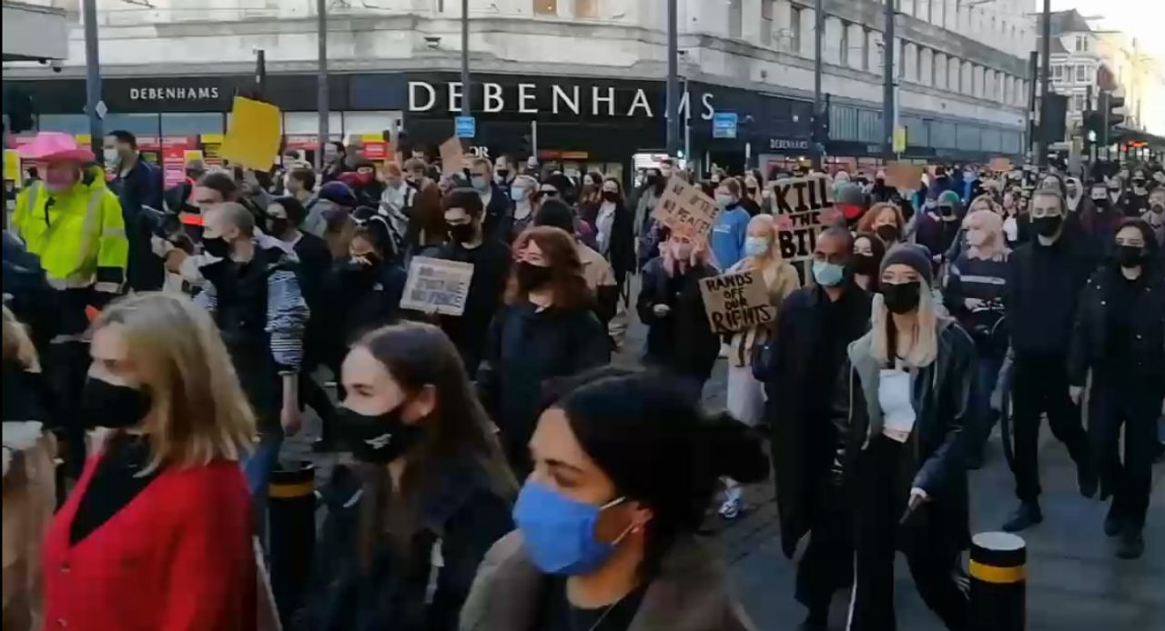 Demonstrations against draconian Police Bill and police brutality held in UK cities