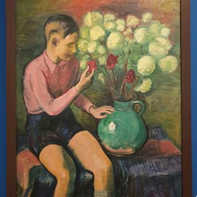 Max Pechstein, Boy with Snowballs and Three Carnations, 1937