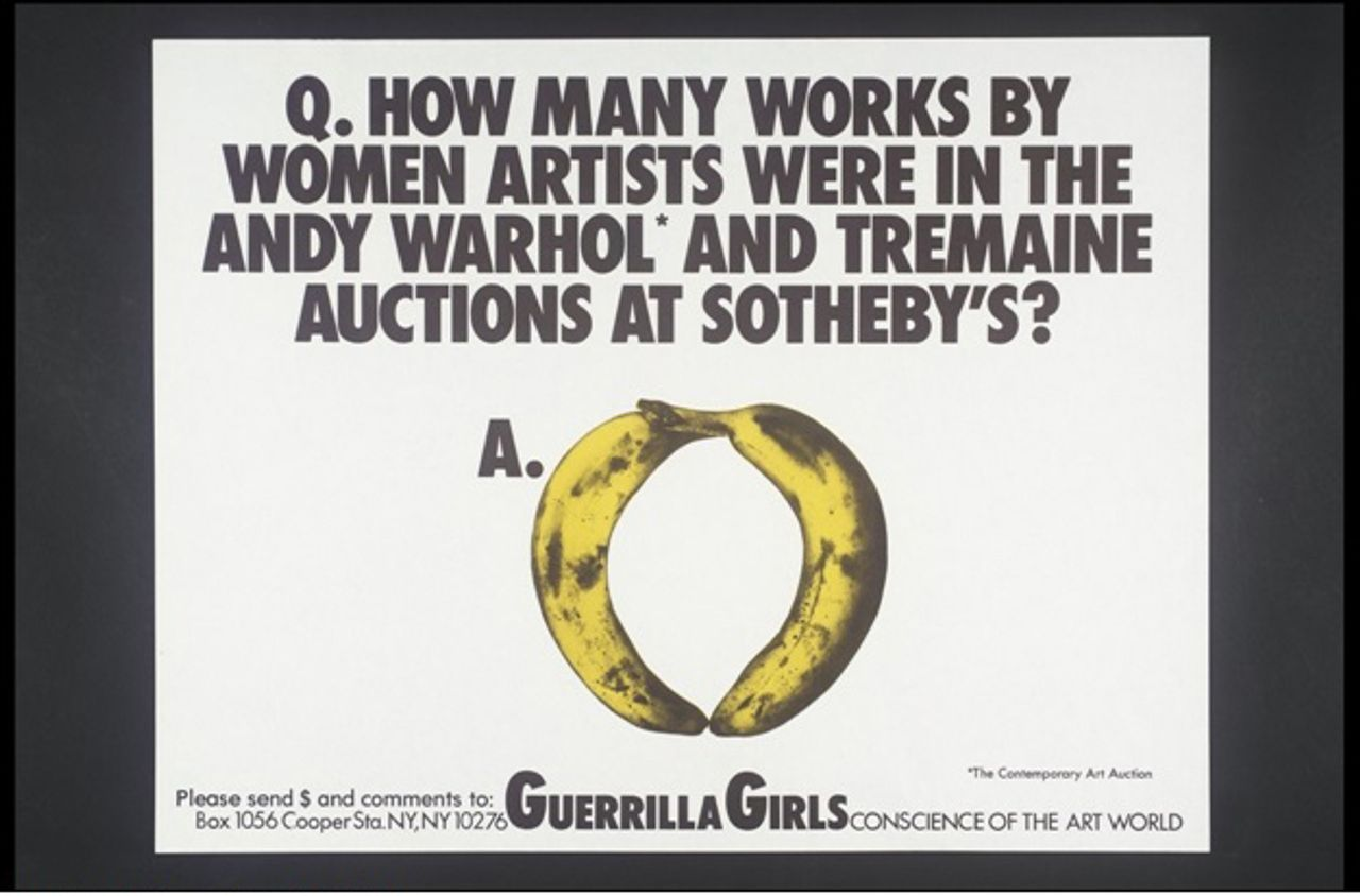 Guerilla Girls [no title] 1985-90 © courtesy www.guerillagirls.com. Image courtesy Tate