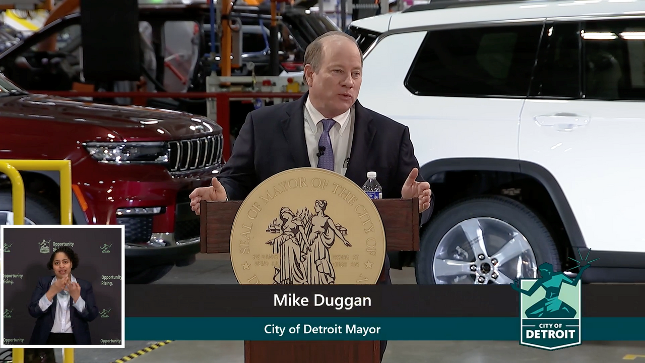 Detroit Mayor Duggan's State of the City 2021: Open for business