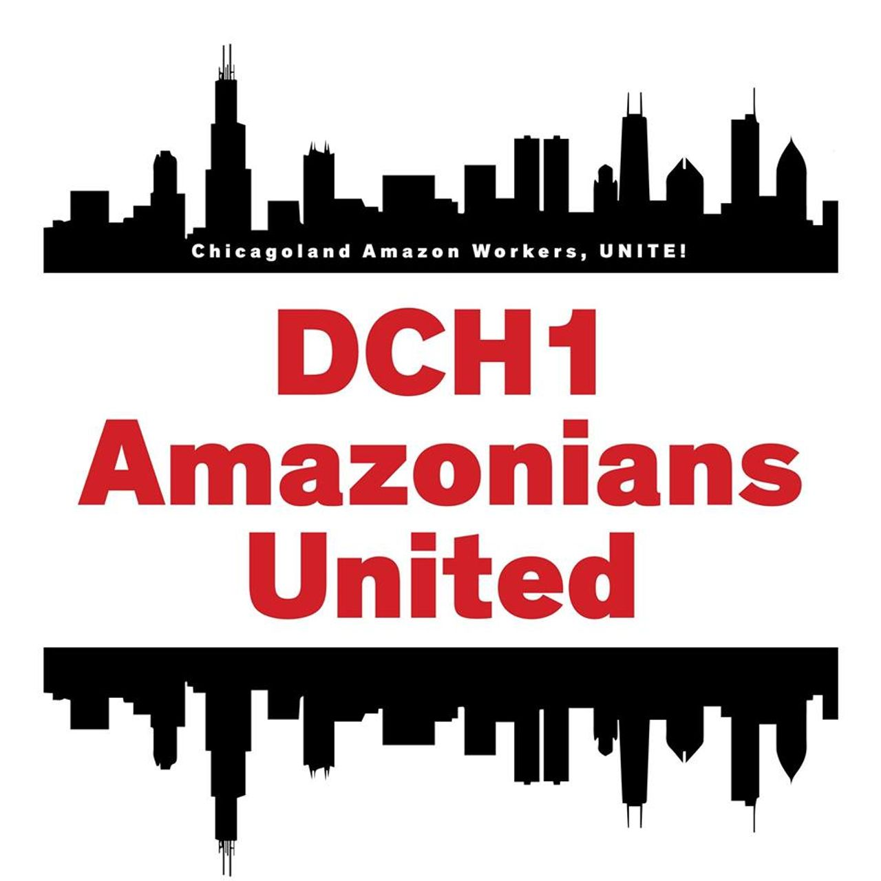 Chicago Amazon workers logo