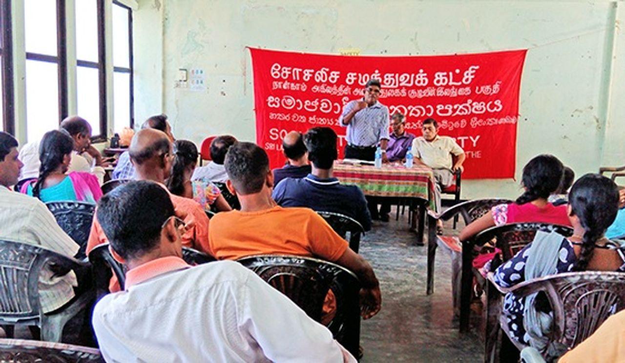 sri lankan sep jaffna meeting discusses political