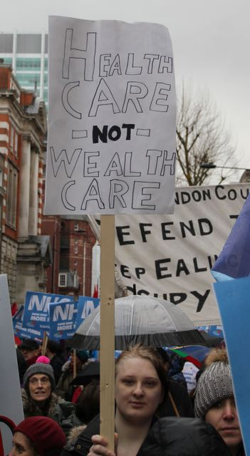 London Protesters Speak Out In Defence Of The National