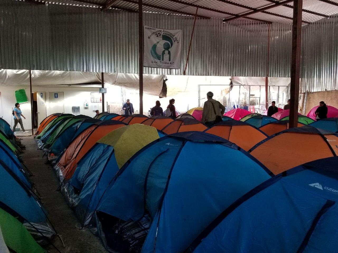 An immigrant tent encampment