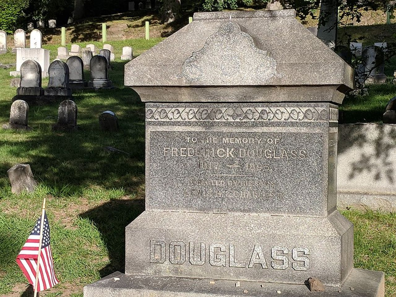 Gravestone of Frederick Douglass in Mount Hope Cemetery, Rochester, New York