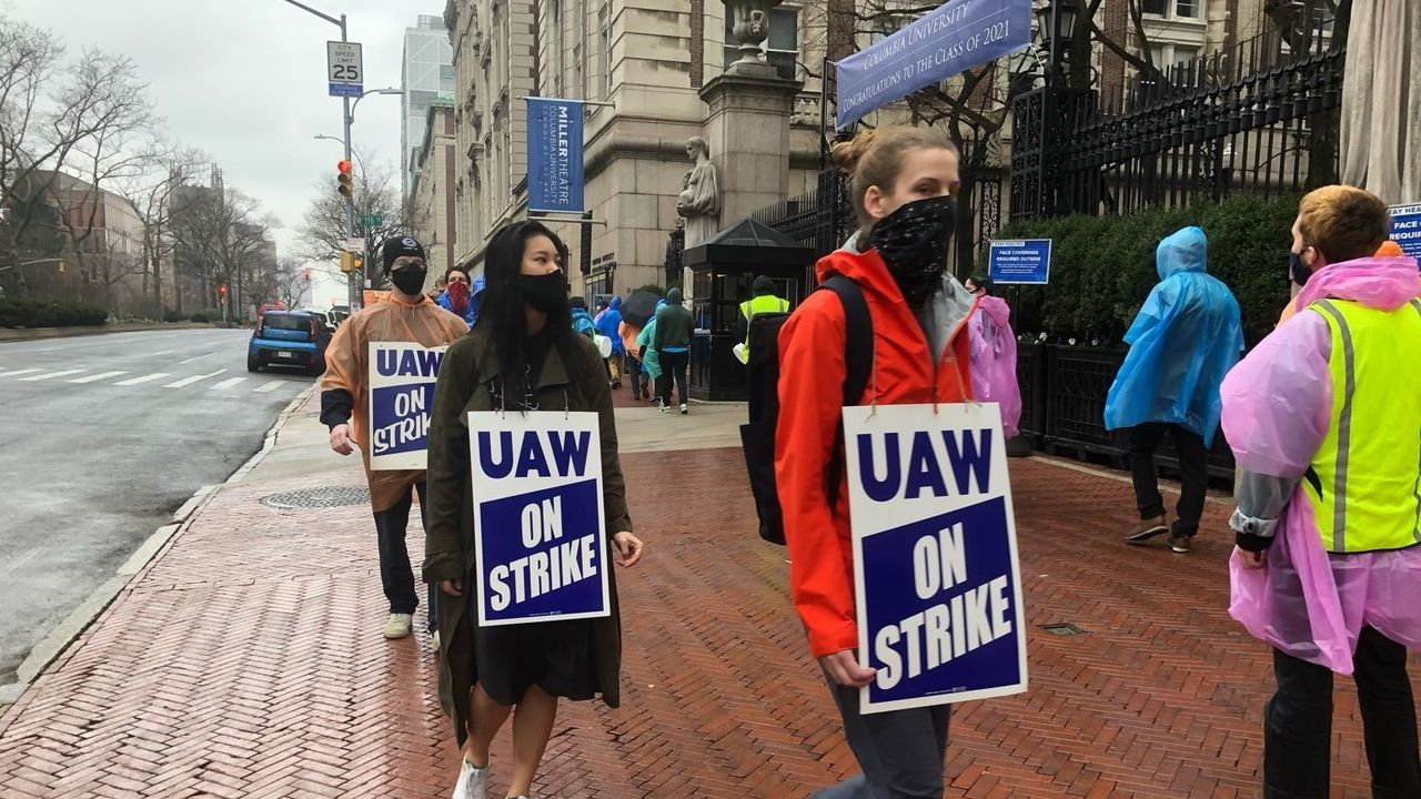 Columbia graduate workers hold the line, set to continue strike into third week