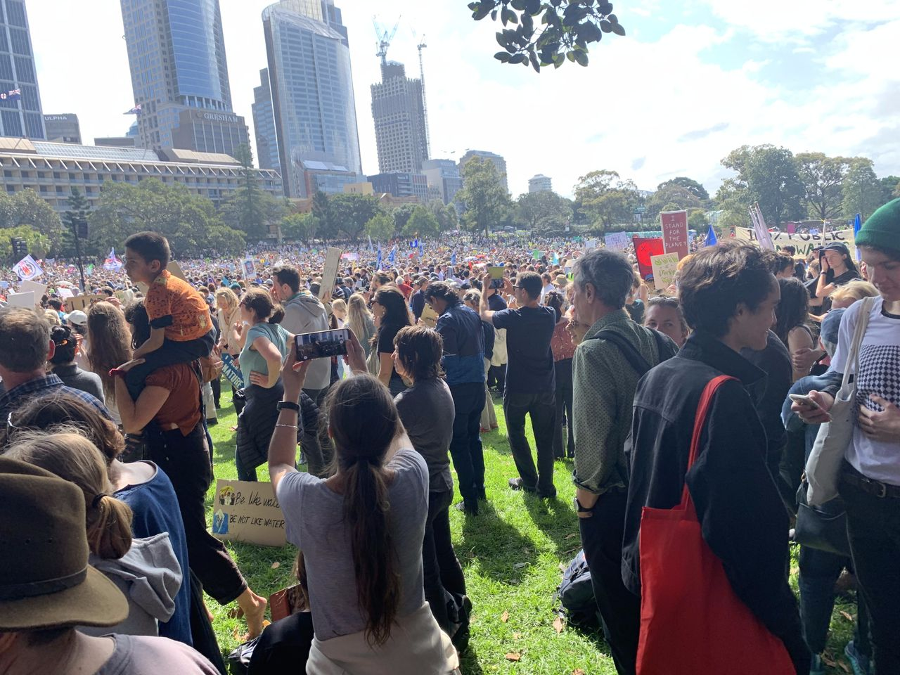 The protest in Sydney