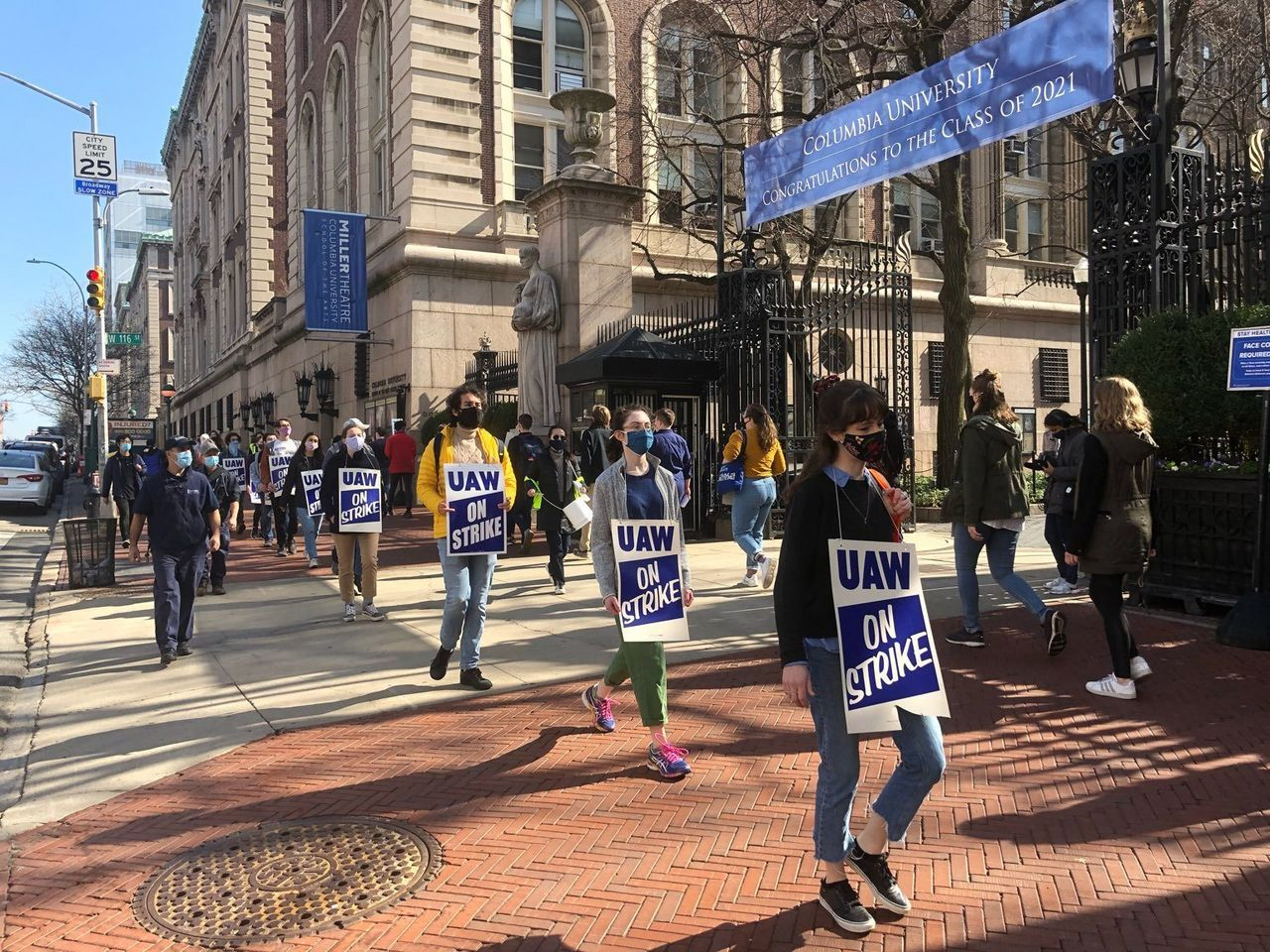 Support grows among workers for striking Columbia University graduate students
