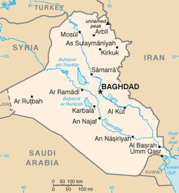 Cartina Iraq.Us General Suggests Re Invasion Of Iraq If National
