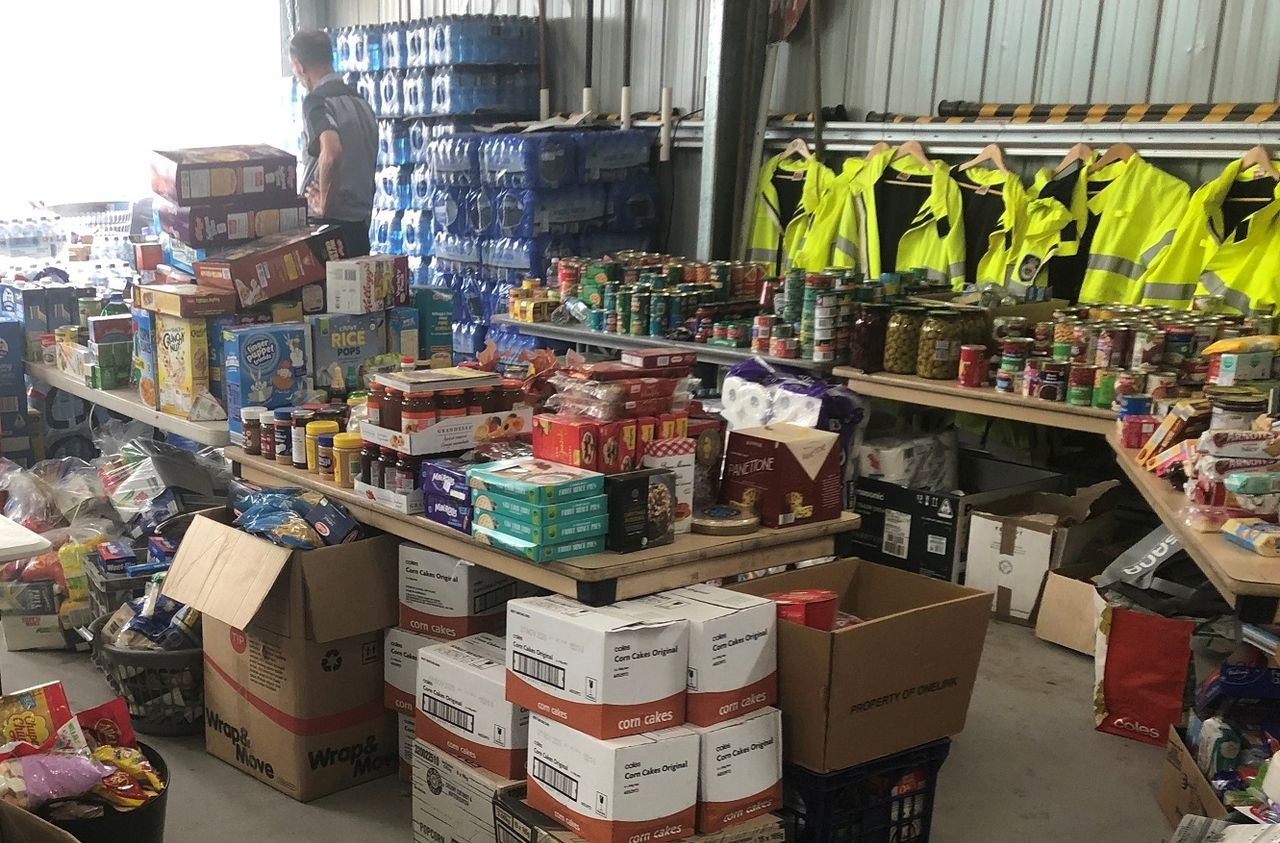 Donations for fire victims in the Balmoral Fire Station