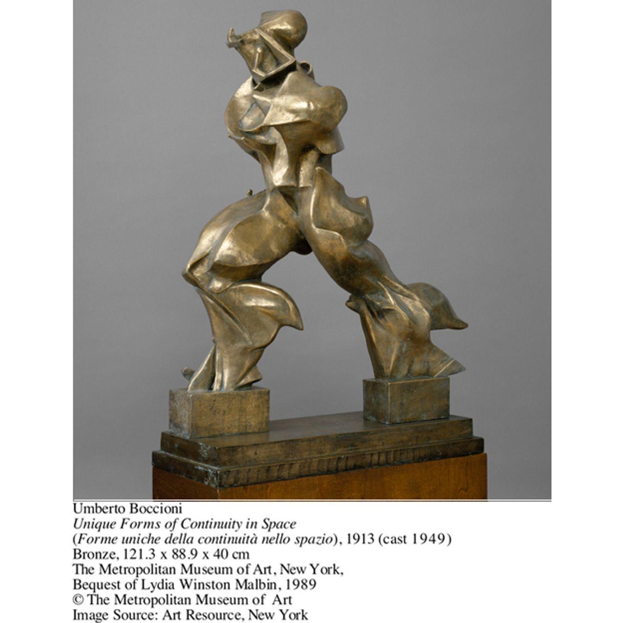 Umberto Boccioni, Unique Forms of Continuity in Space (Forme uniche della continuità nello spazio)