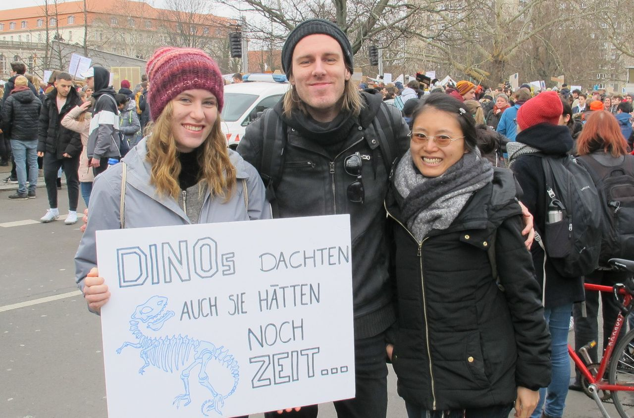 German pro-climate demonstrators