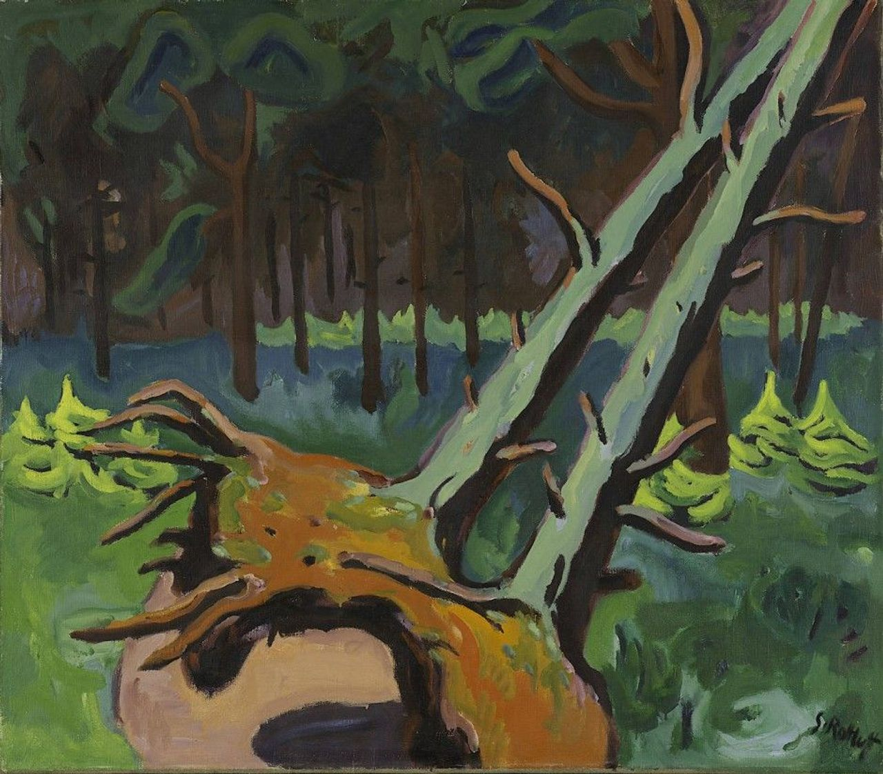 Karl Schmidt-Rottluff, Uprooted Trees, 1934