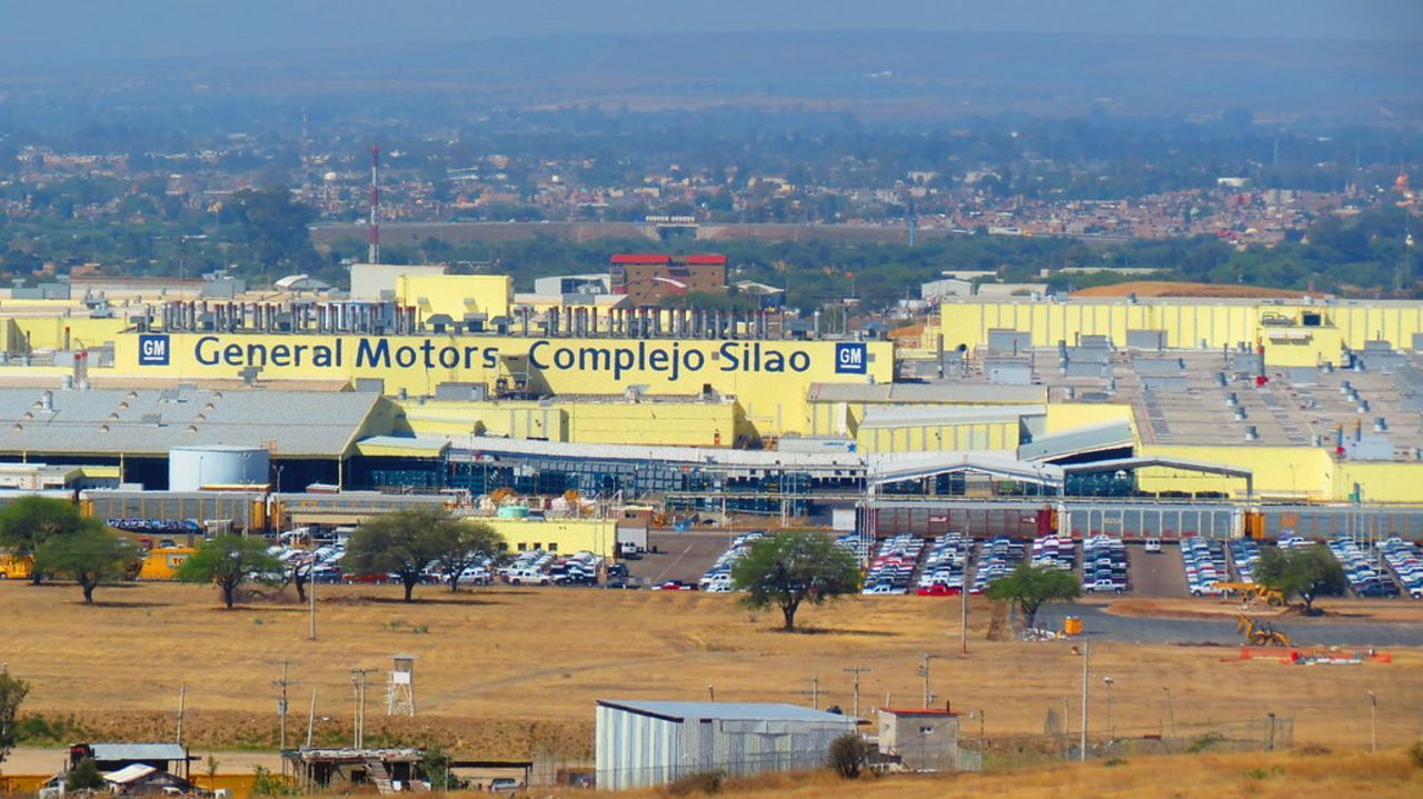 The General Motors complex in Silao