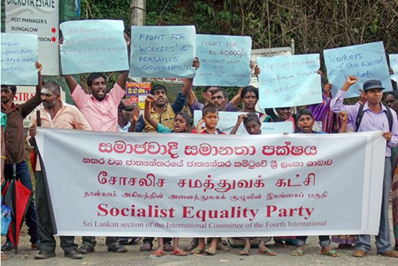 Sri Lanka SEP And Abbotsleigh Workers Committee Organise Picket To Oppose Witch Hunt In Plantations