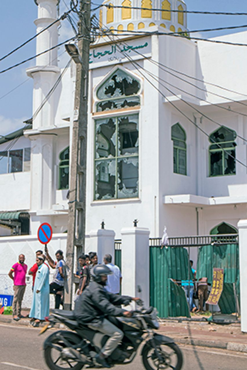 Attacked mosque in Minuwangoda, Sri Lanka